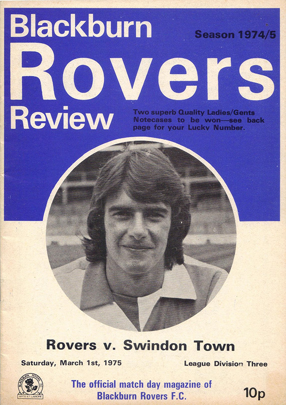 <b>Saturday, March 1, 1975</b><br />vs. Blackburn Rovers (Away)
