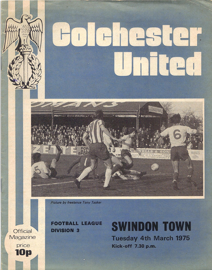 <b>Tuesday, March 4, 1975</b><br />vs. Colchester United (Away)
