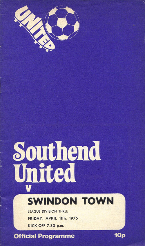 <b>Friday, April 11, 1975</b><br />vs. Southend United (Away)