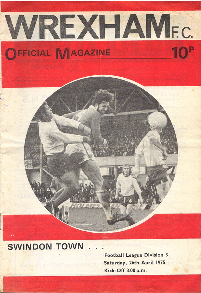 <b>Saturday, April 26, 1975</b><br />vs. Wrexham (Away)