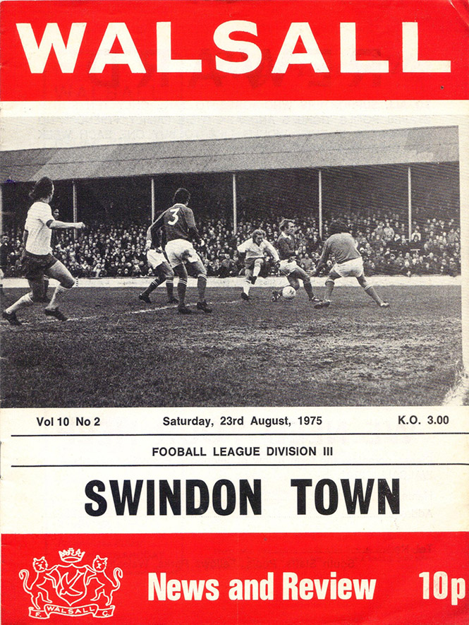 <b>Saturday, August 23, 1975</b><br />vs. Walsall (Away)