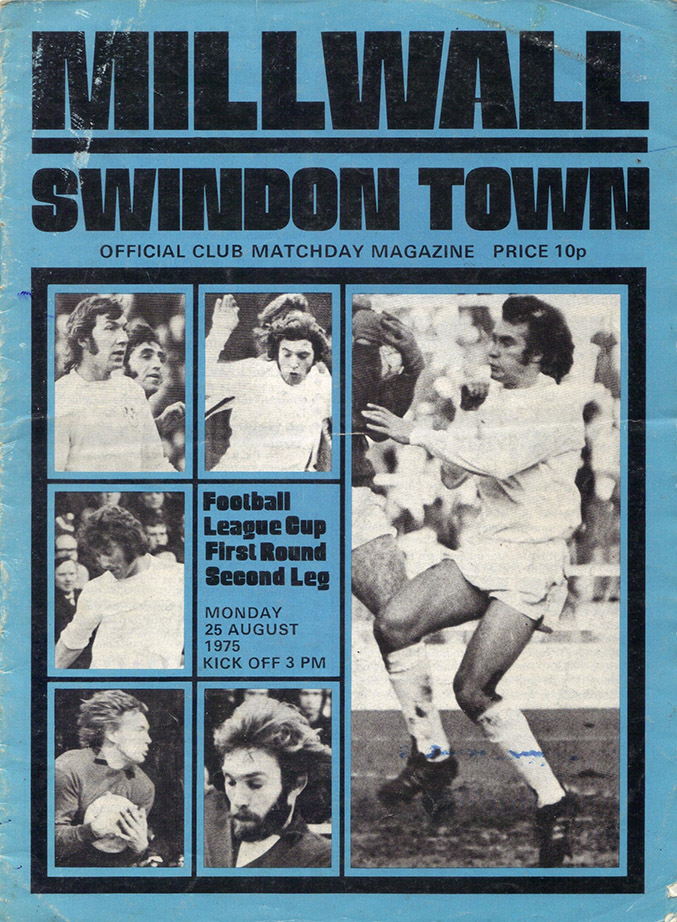 Monday, August 25, 1975 - vs. Millwall (Away)