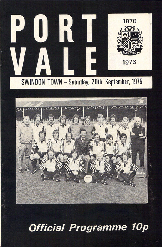 <b>Saturday, September 20, 1975</b><br />vs. Port Vale (Away)
