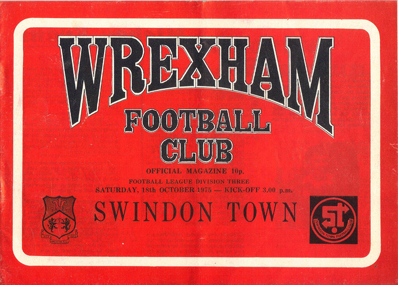 <b>Saturday, October 18, 1975</b><br />vs. Wrexham (Away)