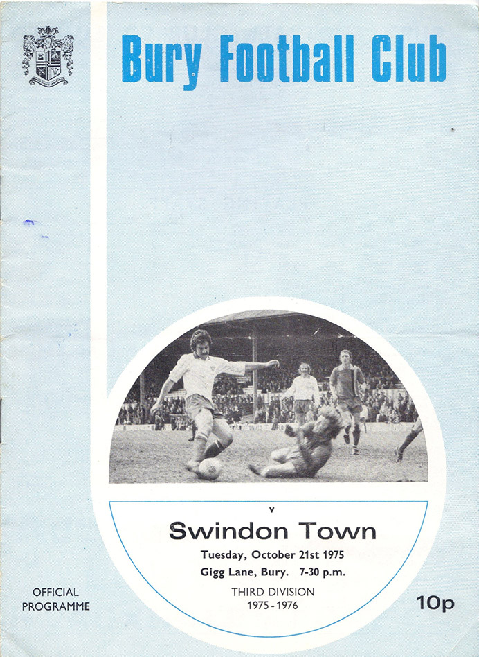 <b>Tuesday, October 21, 1975</b><br />vs. Bury (Away)