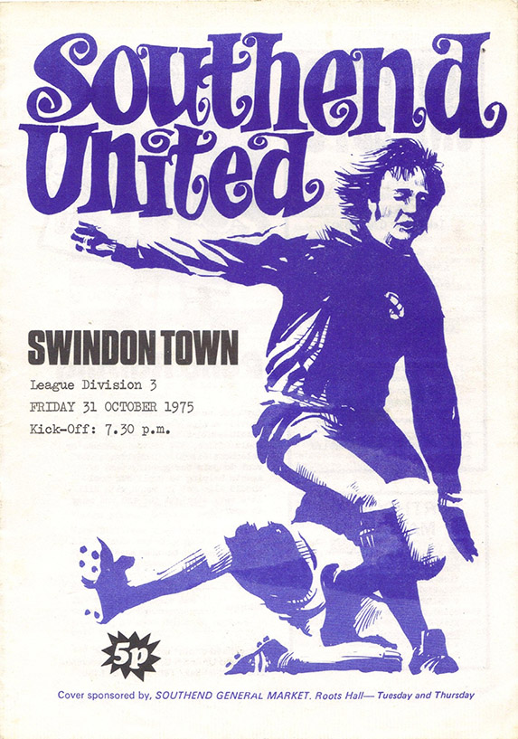 Friday, October 31, 1975 - vs. Southend United (Away)