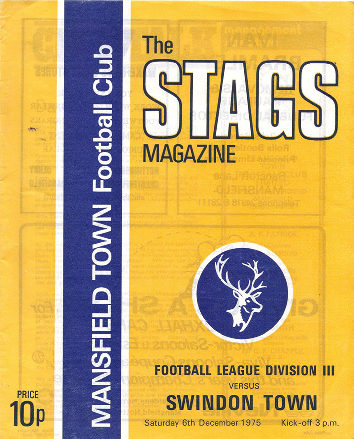 <b>Saturday, December 6, 1975</b><br />vs. Mansfield Town (Away)