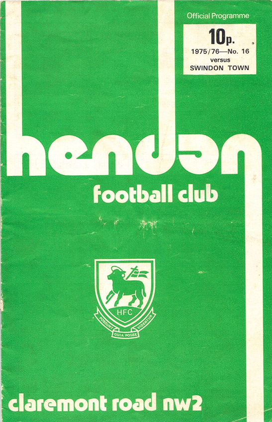 <b>Saturday, December 13, 1975</b><br />vs. Hendon (Away)