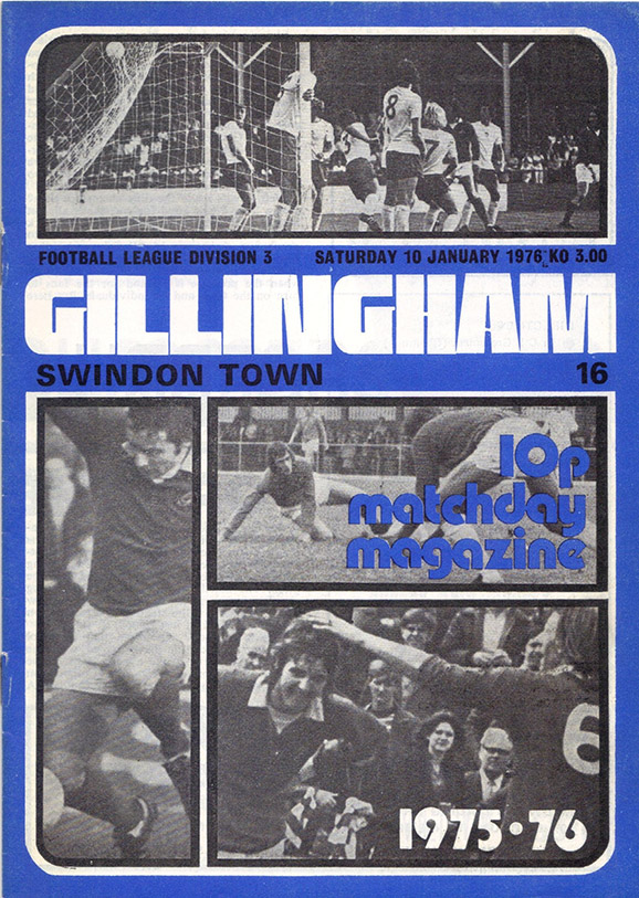 Saturday, January 10, 1976 - vs. Gillingham (Away)