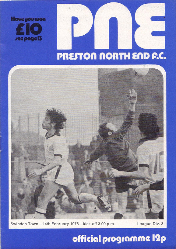 Saturday, February 14, 1976 - vs. Preston North End (Away)