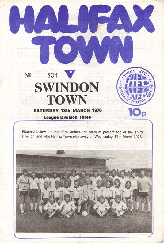 Saturday, March 13, 1976 - vs. Halifax Town (Away)