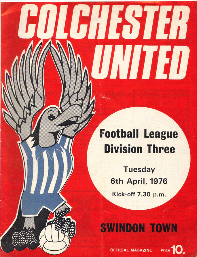 Tuesday, April 6, 1976 - vs. Colchester United (Away)