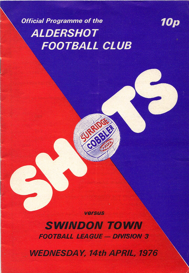 Wednesday, April 14, 1976 - vs. Aldershot (Away)