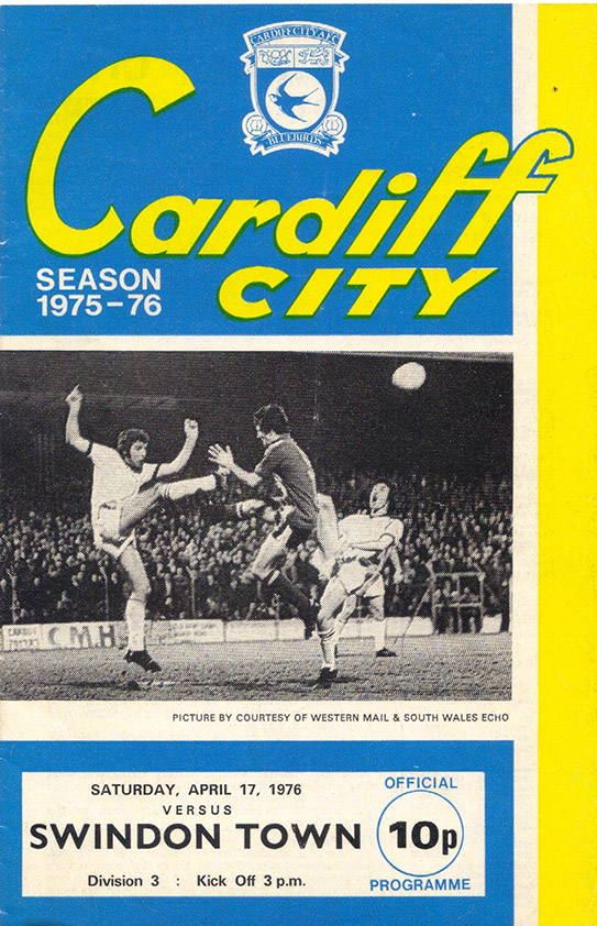Saturday, April 17, 1976 - vs. Cardiff City (Away)