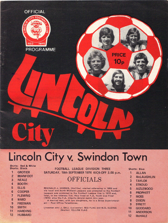 <b>Saturday, September 18, 1976</b><br />vs. Lincoln City (Away)