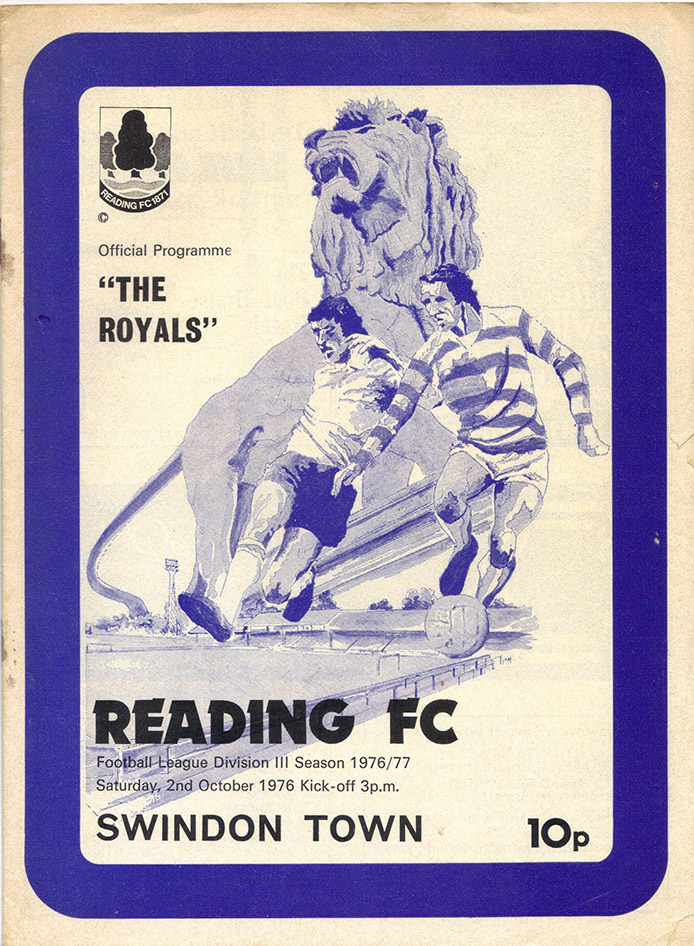 <b>Saturday, October 2, 1976</b><br />vs. Reading (Away)