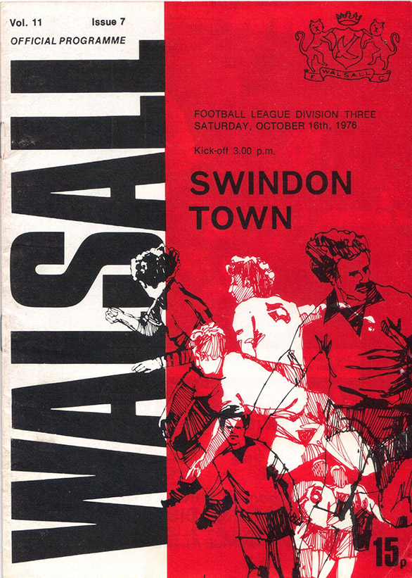<b>Saturday, October 16, 1976</b><br />vs. Walsall (Away)