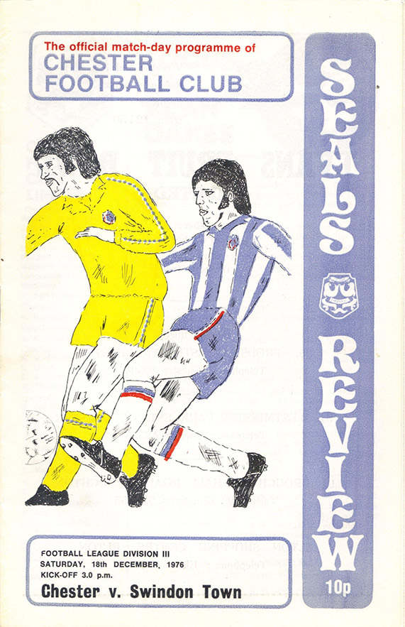 <b>Saturday, December 18, 1976</b><br />vs. Chester (Away)