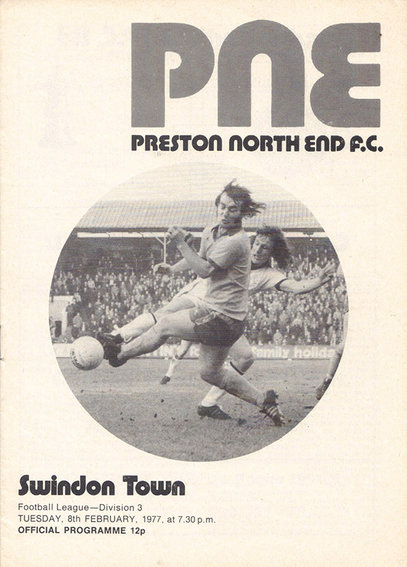 Tuesday, February 8, 1977 - vs. Preston North End (Away)