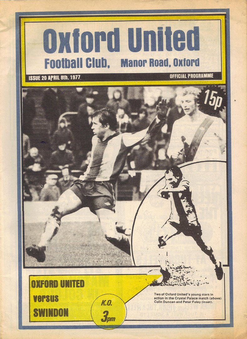 <b>Friday, April 8, 1977</b><br />vs. Oxford United (Away)
