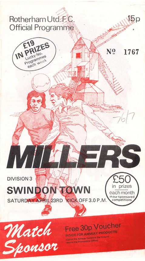 Saturday, April 23, 1977 - vs. Rotherham United (Away)