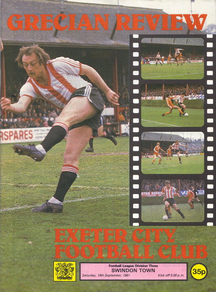 <b>Saturday, September 19, 1981</b><br />vs. Exeter City (Away)