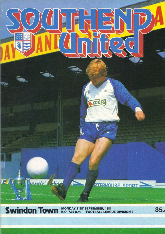 <b>Monday, September 21, 1981</b><br />vs. Southend United (Away)