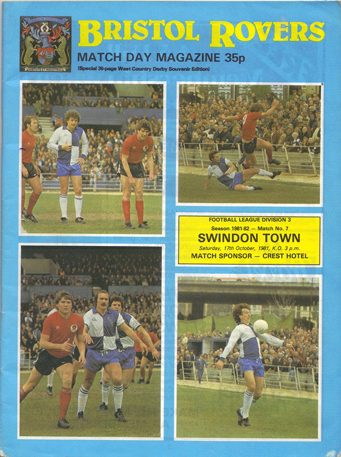 <b>Saturday, October 17, 1981</b><br />vs. Bristol Rovers (Away)