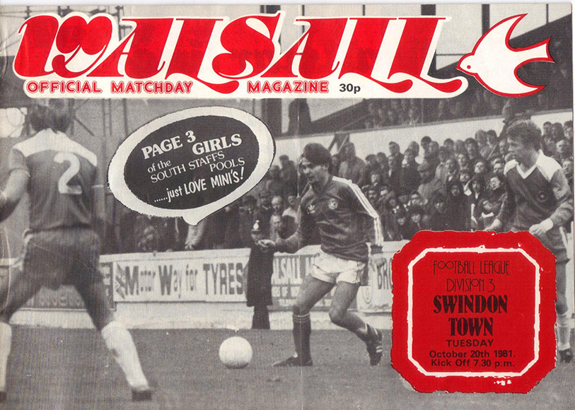 <b>Tuesday, October 20, 1981</b><br />vs. Walsall (Away)