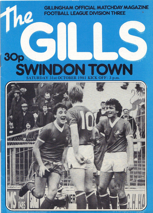 <b>Saturday, October 31, 1981</b><br />vs. Gillingham (Away)