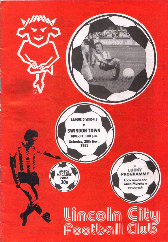 <b>Saturday, November 28, 1981</b><br />vs. Lincoln City (Away)