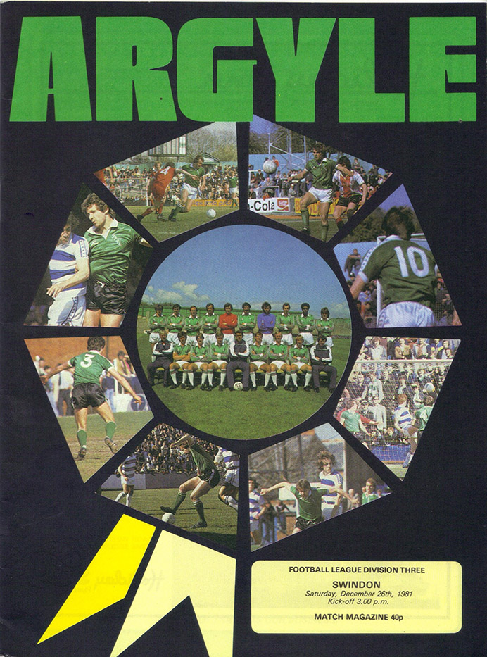 <b>Saturday, December 26, 1981</b><br />vs. Plymouth Argyle (Away)