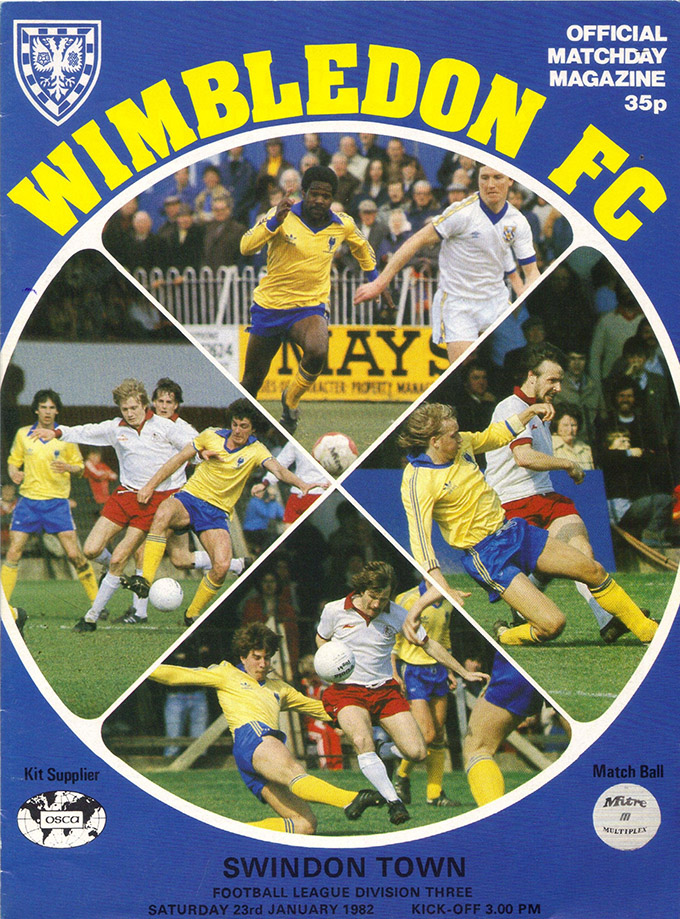 <b>Saturday, January 23, 1982</b><br />vs. Wimbledon (Away)
