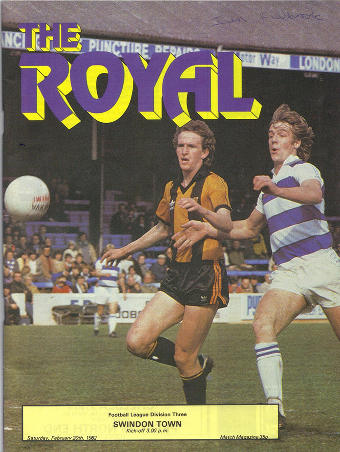 <b>Saturday, February 20, 1982</b><br />vs. Reading (Away)