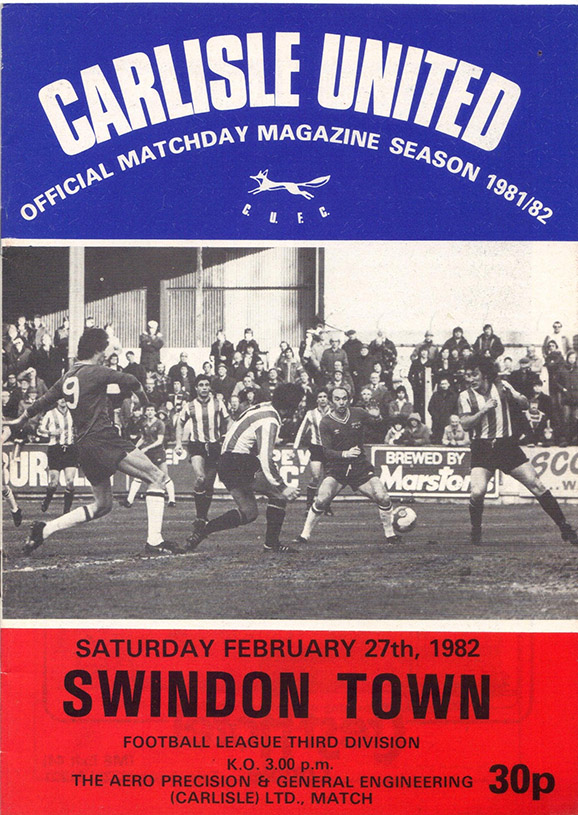 <b>Saturday, February 27, 1982</b><br />vs. Carlisle United (Away)