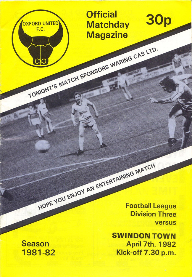 <b>Wednesday, April 7, 1982</b><br />vs. Oxford United (Away)