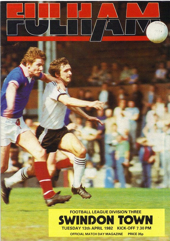 <b>Tuesday, April 13, 1982</b><br />vs. Fulham (Away)