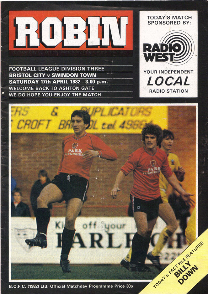 <b>Saturday, April 17, 1982</b><br />vs. Bristol City (Away)
