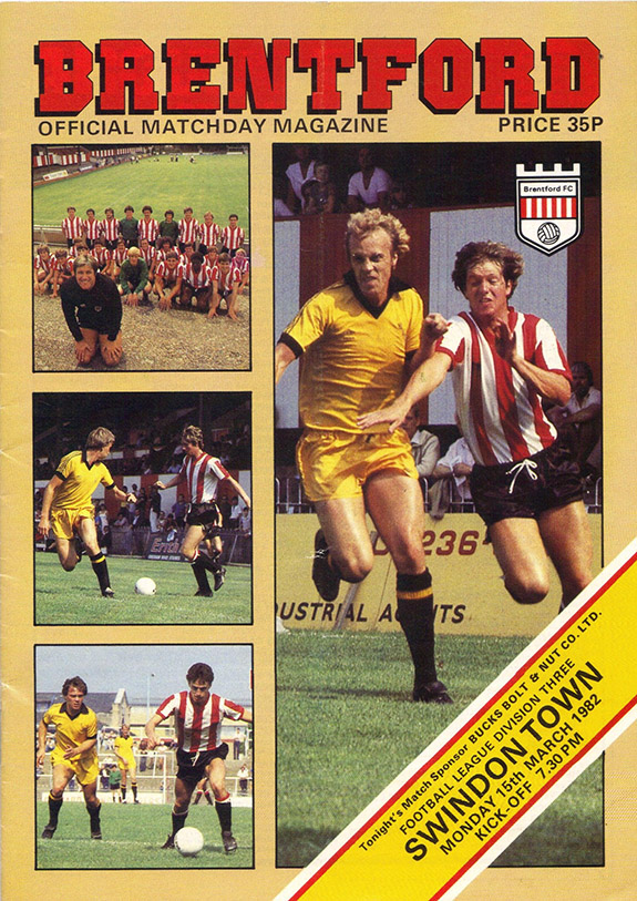 <b>Monday, April 19, 1982</b><br />vs. Brentford (Away)