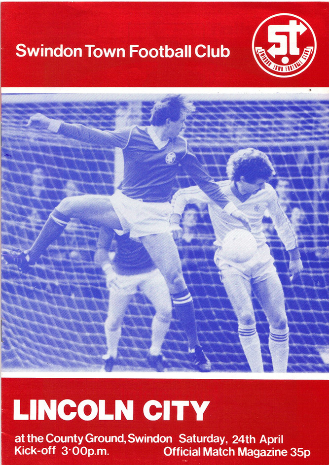 <b>Saturday, April 24, 1982</b><br />vs. Lincoln City (Home)