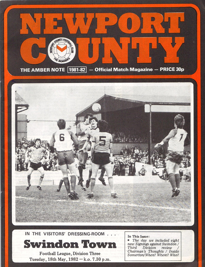 <b>Tuesday, May 18, 1982</b><br />vs. Newport County (Away)