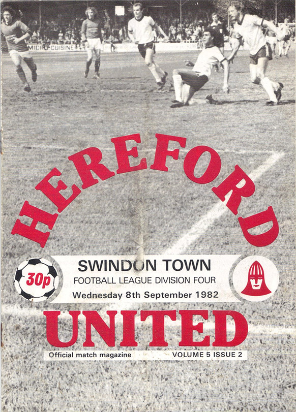 Wednesday, September 8, 1982 - vs. Hereford United (Away)