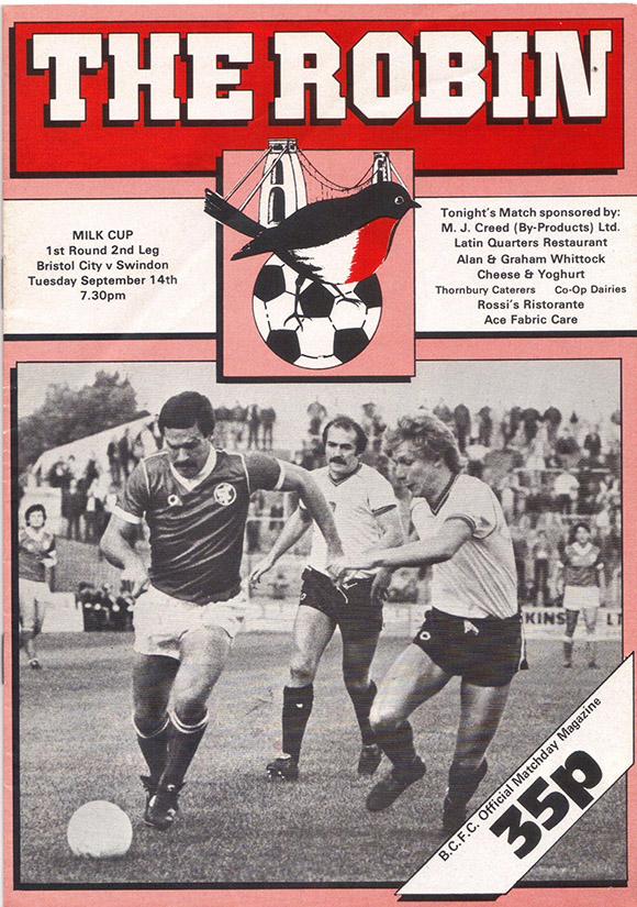 Tuesday, September 14, 1982 - vs. Bristol City (Away)