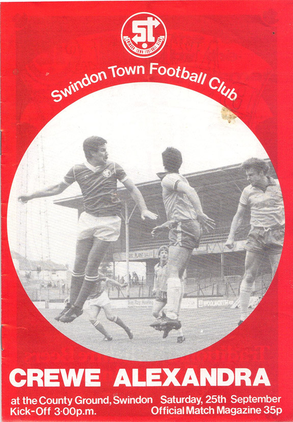 Saturday, September 25, 1982 - vs. Crewe Alexandra (Home)