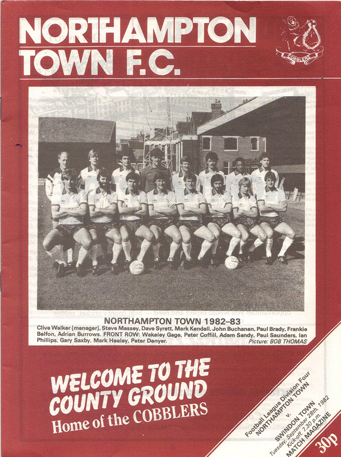 Tuesday, September 28, 1982 - vs. Northampton Town (Away)