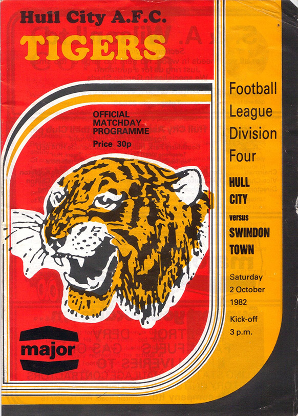 Saturday, October 2, 1982 - vs. Hull City (Away)