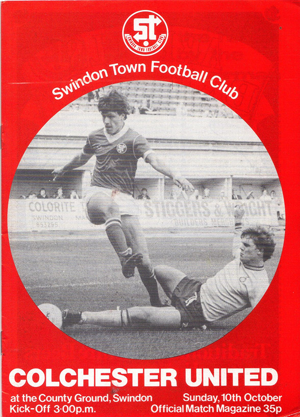 Sunday, October 10, 1982 - vs. Colchester United (Home)