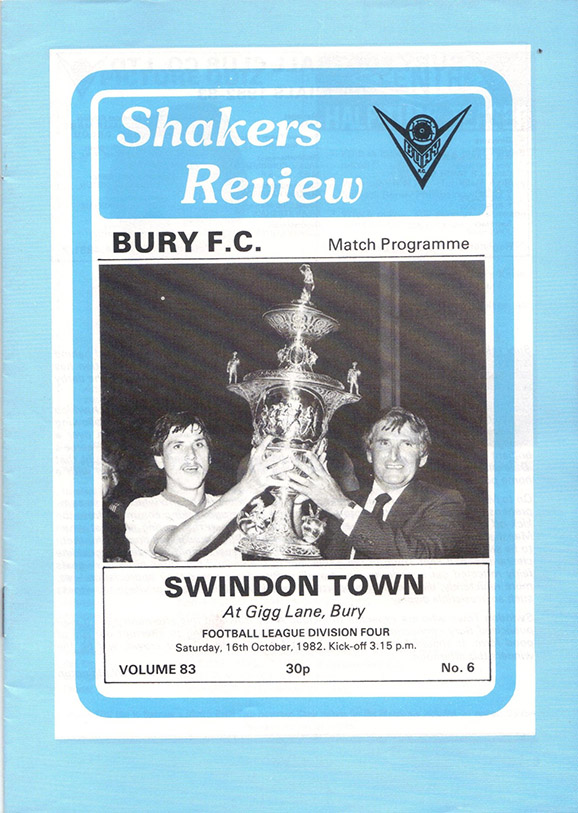 Saturday, October 16, 1982 - vs. Bury (Away)