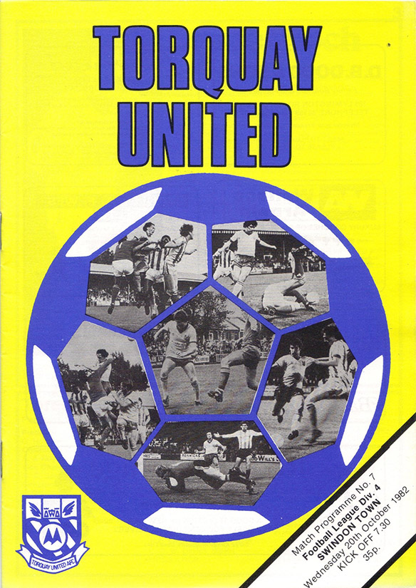 Wednesday, October 20, 1982 - vs. Torquay United (Away)