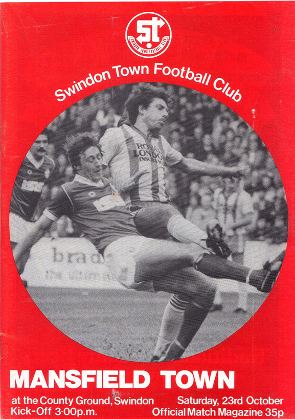 Saturday, October 23, 1982 - vs. Mansfield Town (Home)